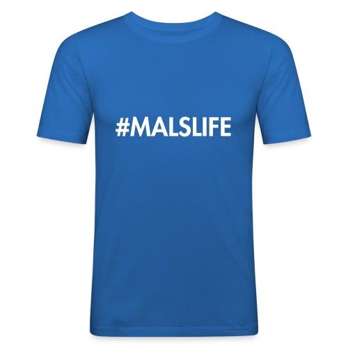 #MALSLIFE vrouwen - zwart - Mannen slim fit T-shirt