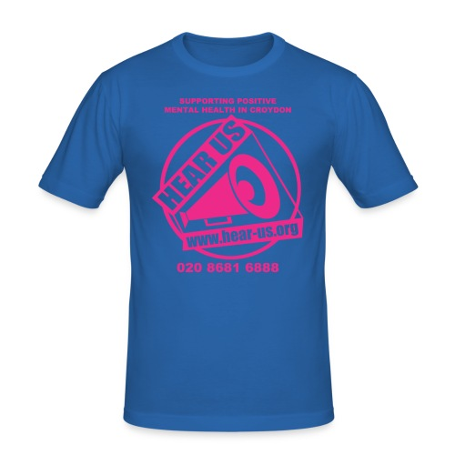 hearustishirtdesignpink - Men's Slim Fit T-Shirt