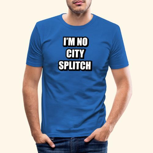 IM NO CITY SPLITCH - Men's Slim Fit T-Shirt