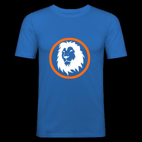 Absogames white lion unisex hoodie - Men's Slim Fit T-Shirt