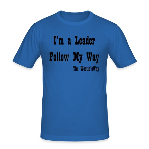 Follow My Way Black - Obcisła koszulka męska
