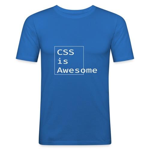 cssawesome - white - Mannen slim fit T-shirt
