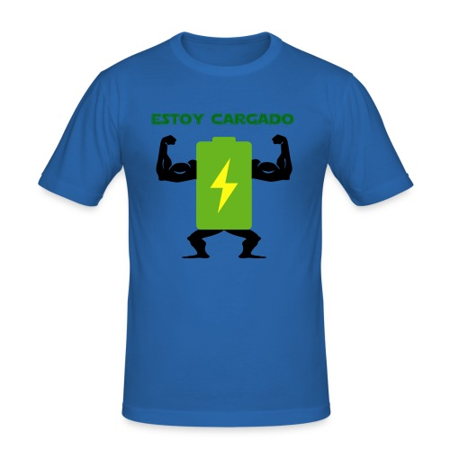 Batería cargada - Camiseta ajustada hombre