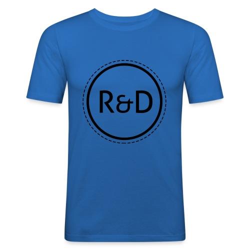 logo_zwart - Mannen slim fit T-shirt