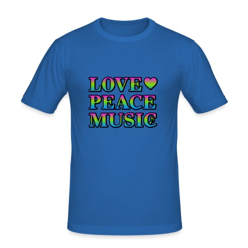Love Peace Music - Men's Slim Fit T-Shirt