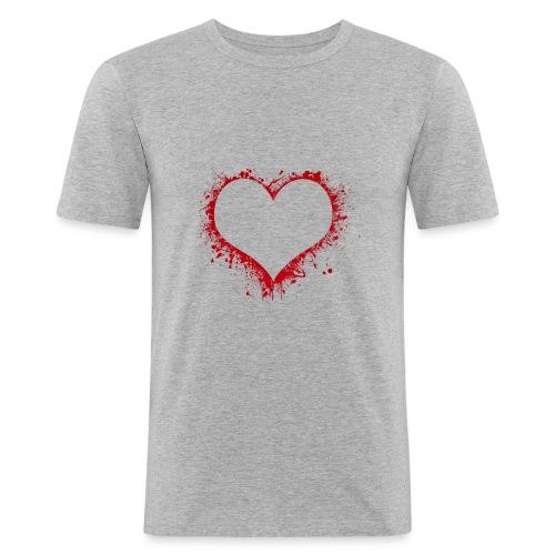 Herz/Heart - Männer Slim Fit T-Shirt