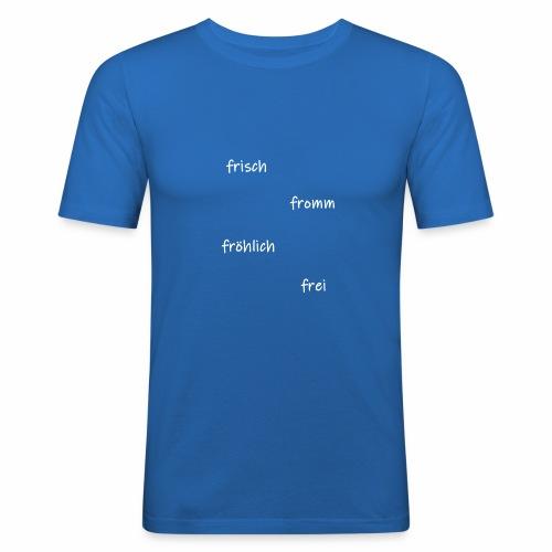 frisch fromm froehlich - Männer Slim Fit T-Shirt