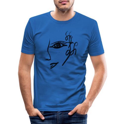 Gesicht - Männer Slim Fit T-Shirt