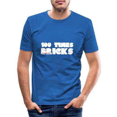 100 TIMES BRICKS retrò - Maglietta aderente da uomo