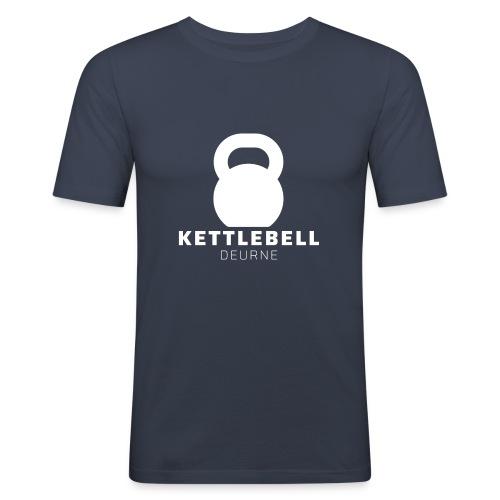 Kettlebell Deurne Wit Logo - Mannen slim fit T-shirt