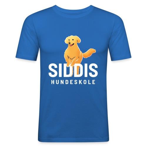 SH logo farge hvit - Slim Fit T-skjorte for menn