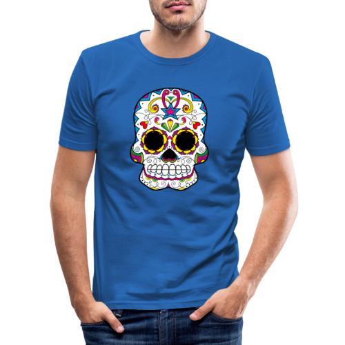 skull7 - Maglietta aderente da uomo