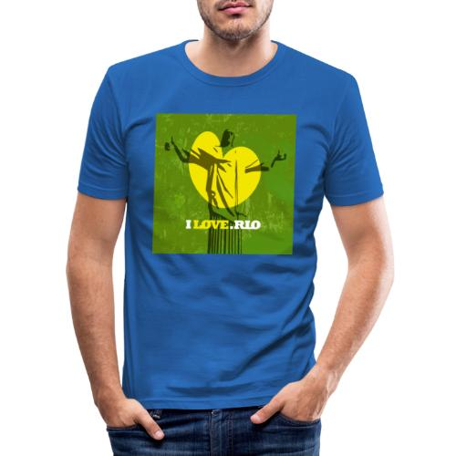 ILOVE.RIO MATA ATLANTICA - Men's Slim Fit T-Shirt