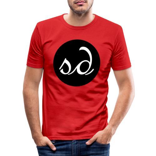 Stereodwarf logo - Men's Slim Fit T-Shirt