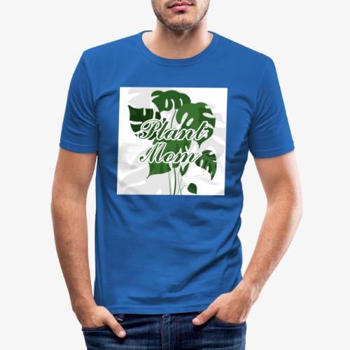 Plant Mom - Obcisła koszulka męska