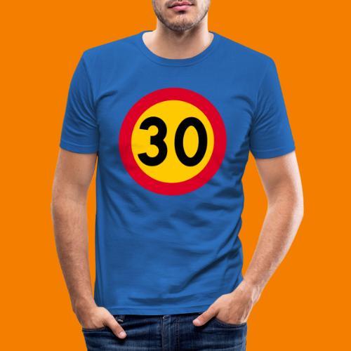 30 skylt - Slim Fit T-shirt herr