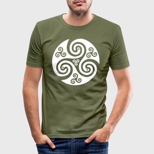 Triskel celtique - T-shirt près du corps Homme