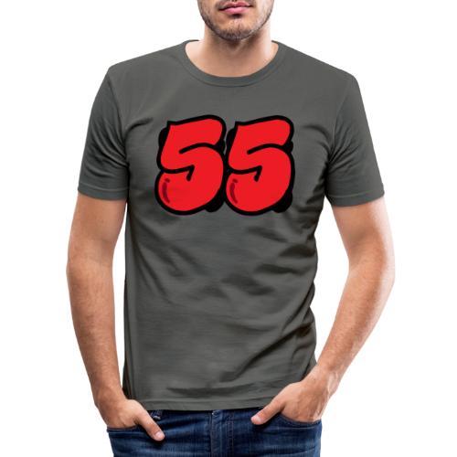 grafbred - Miesten tyköistuva t-paita
