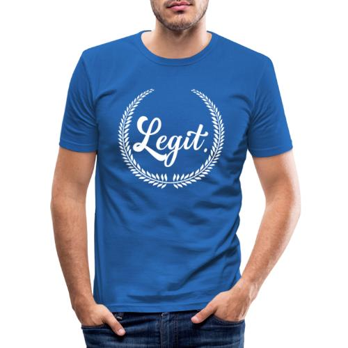 legit white - Mannen slim fit T-shirt