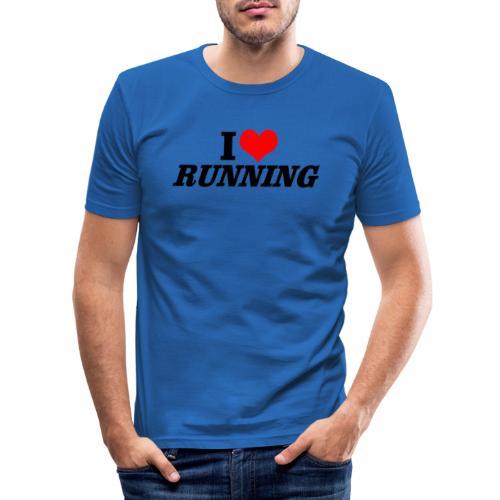 I love running - Männer Slim Fit T-Shirt