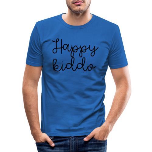 happykiddo - Mannen slim fit T-shirt