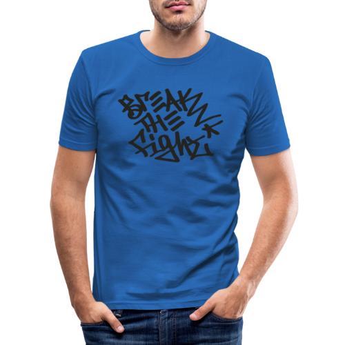 BREAK THE FIGHT - Miesten tyköistuva t-paita