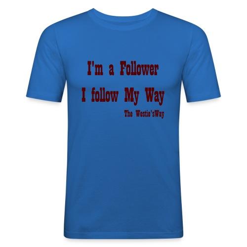 I follow My Way Brown - Obcisła koszulka męska
