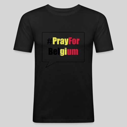 #PrayForBelgium - T-shirt près du corps Homme