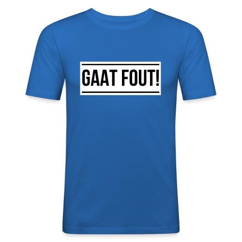 Wit shirt [KIND] - Mannen slim fit T-shirt