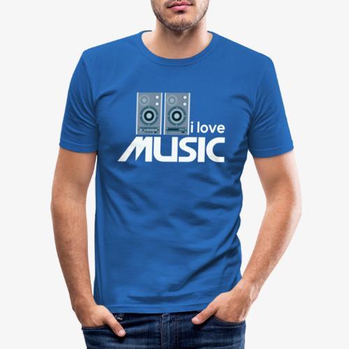 Amo la música 02 - Camiseta ajustada hombre