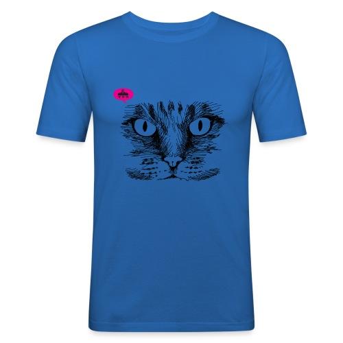 kattegezicht vdh - Mannen slim fit T-shirt