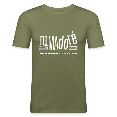 T-Shirt Premium - Donna - Logo Bianco + Sito - Maglietta aderente da uomo