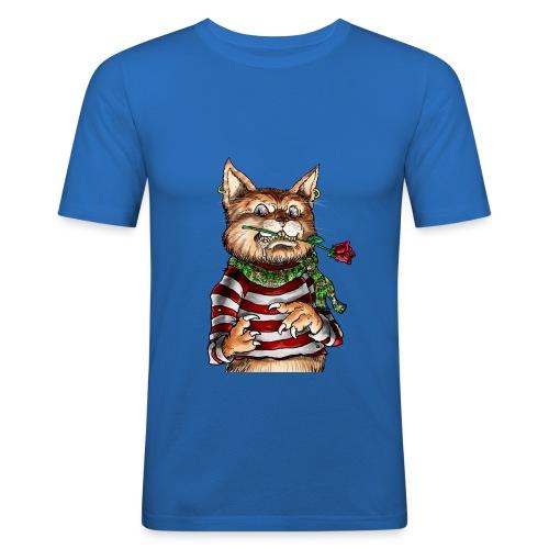 T-shirt - Crazy Cat - T-shirt près du corps Homme