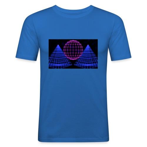 Party Lights - Mannen slim fit T-shirt