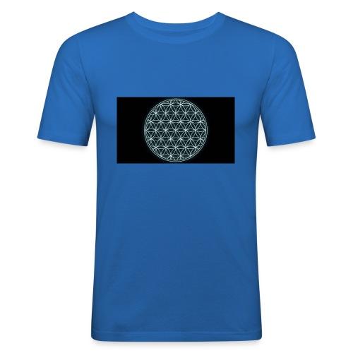 flower of life - Mannen slim fit T-shirt