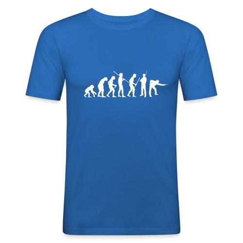 evolution white - Männer Slim Fit T-Shirt