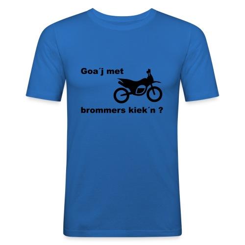 Brommers kijken - Mannen slim fit T-shirt