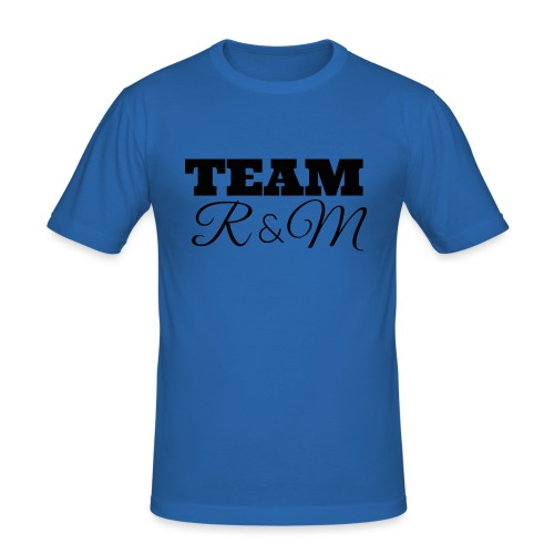 Snapback team r&m - Men's Slim Fit T-Shirt