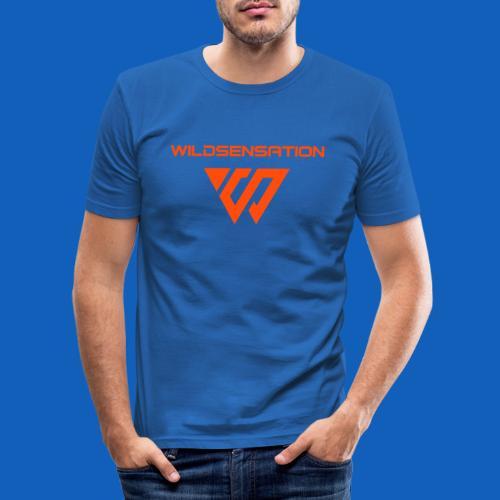 Logo Wildsensation - Männer Slim Fit T-Shirt