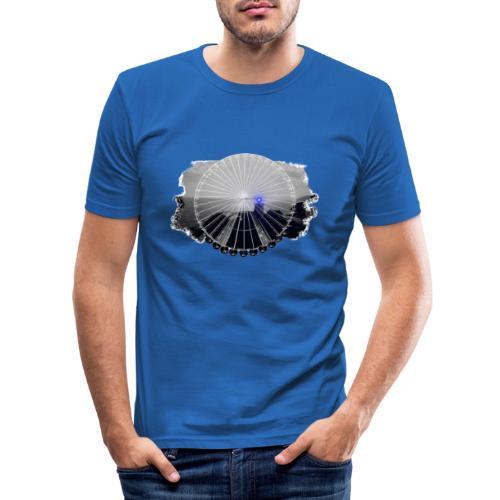 PS 003 Ferris Wheel (grey/blue) - Herre Slim Fit T-Shirt