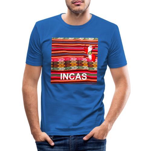 Telar inca Mapa del Peru - T-shirt près du corps Homme