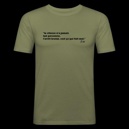 vitesse (noir) - T-shirt près du corps Homme