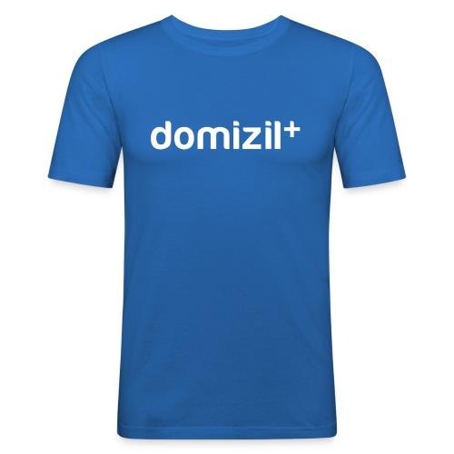 domizilplus_Logo_komplett - Männer Slim Fit T-Shirt