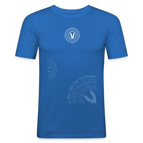 follow the circle white - Men's Slim Fit T-Shirt