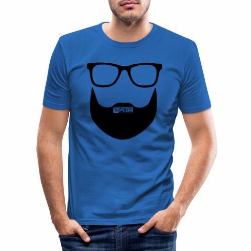Plum Bart Schwarz - Männer Slim Fit T-Shirt