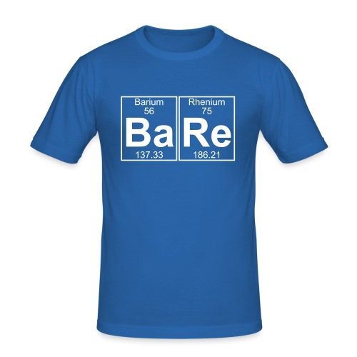 Ba-Re (bare) - Full - Men's Slim Fit T-Shirt