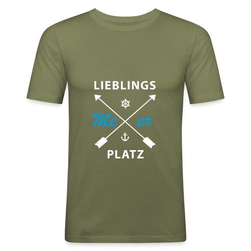 Lieblingsplatz Meer - Männer Slim Fit T-Shirt