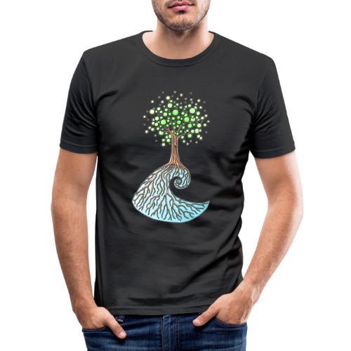 Wellenbaum - Männer Slim Fit T-Shirt
