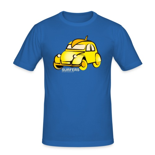 surferyellowcar0101 - Camiseta ajustada hombre