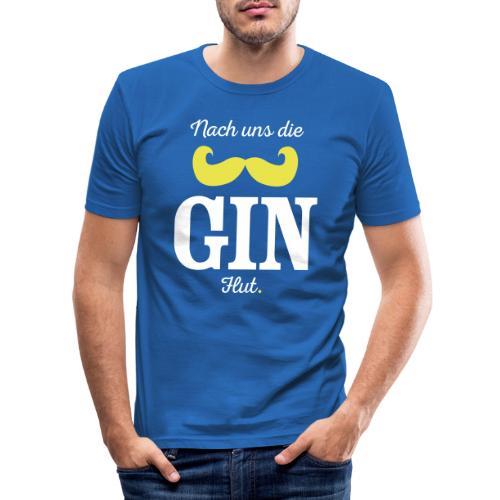 Nach uns die Gin-Flut - Männer Slim Fit T-Shirt